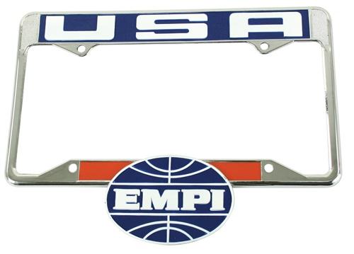 Držák SPZ chrom/EMPI/zadní (US verze)
