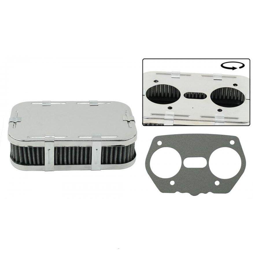 Filtr vzduchu chrom/41mm (Weber IDF/DRLA/EMPI HPMX)